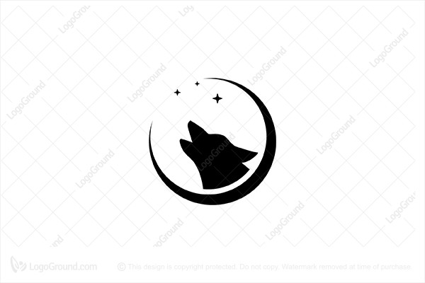 Logo for sale: Moon Wolf Logo