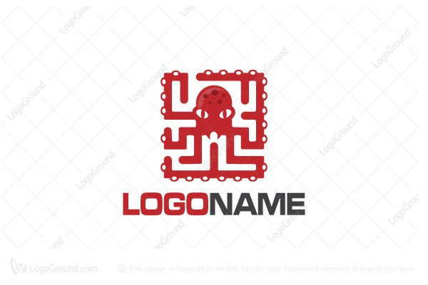 Logo for sale: Octo Maze Logo