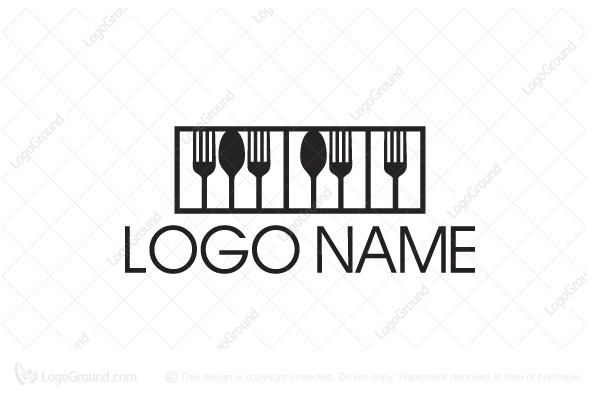 Logo for sale: Musical Food Logo