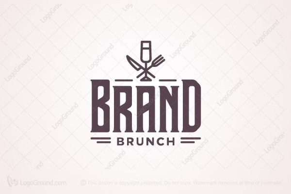 Exclusive Logo 48836 Retro Style Food Drinks Logo