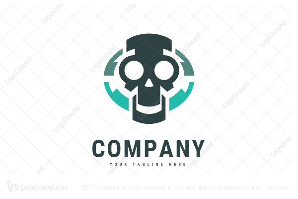 Logo for sale: Skull Tech Logo