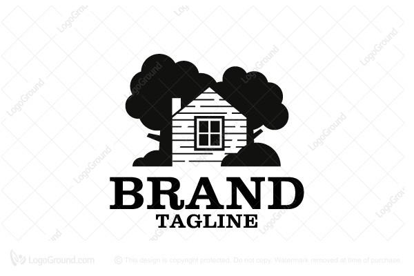 Superb Logo For Sale: Forest Cabin Logo