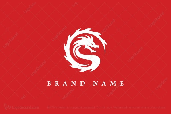 Logo for sale: Epic Red Dragon Logo