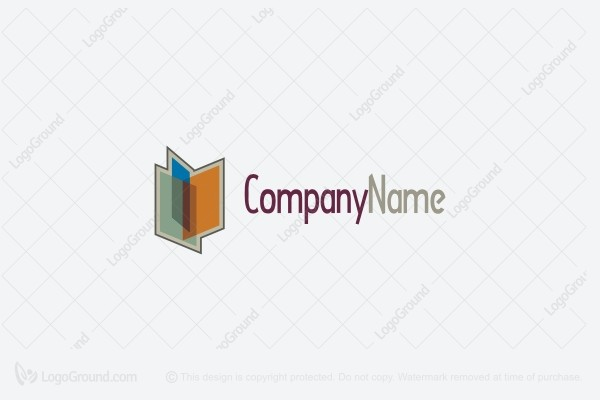 Logo for sale: 3d Book Education  Logo