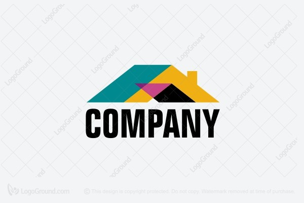 Logo for sale: Bright Roof Construction Logo