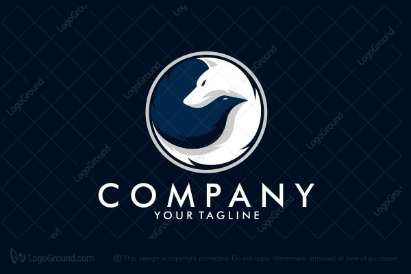 Logo for sale: Wolf And Crow Logo