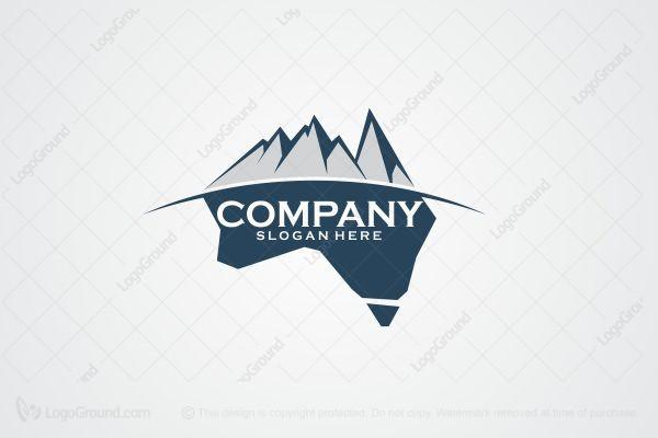Map Of Australia Logo.Exclusive Logo 89074 Australia Mountain Logo