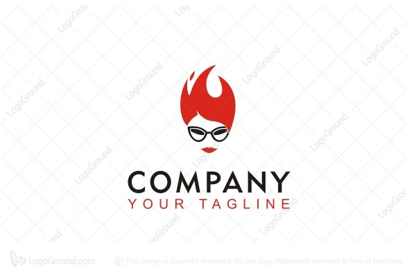 Logo For Sale Fire Hair