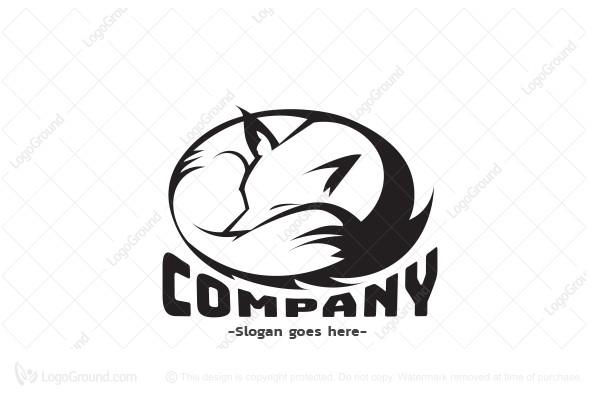 Exclusive Logo 91546, Sleeping Fox Logo