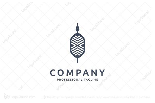 Exclusive Logo 91220, Zulu Shield and Spear Logo