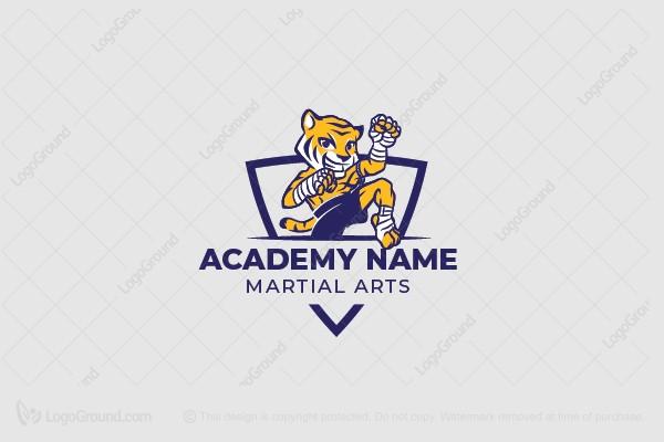 Martial arts logo tiger