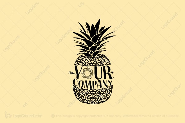 Logo for sale: Pineapple Sun Logo