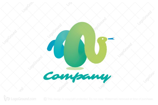 Logo for sale: Cute Snake Logo