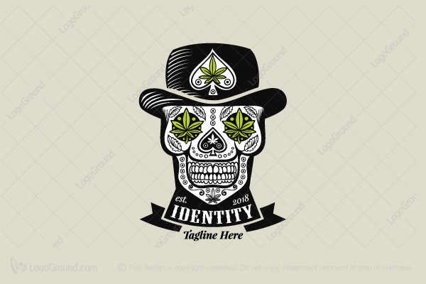 Logo for sale: Cannabis Skull Logo