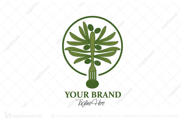 Logo for sale: Green Olive Tree Logo