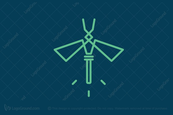 Logo for sale: Lamp-dragonfly Logo