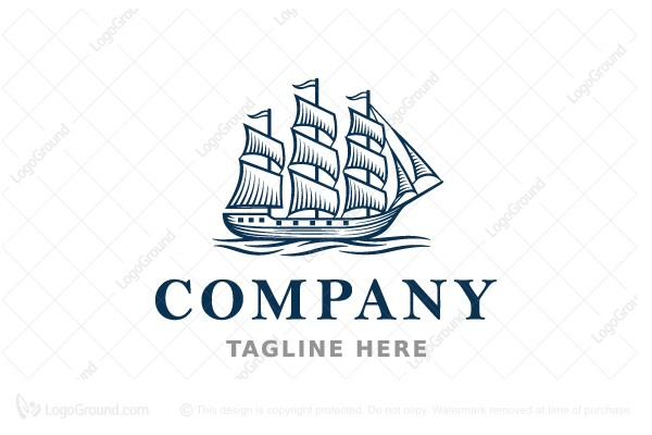 Logo for sale: Sailing Ship Logo