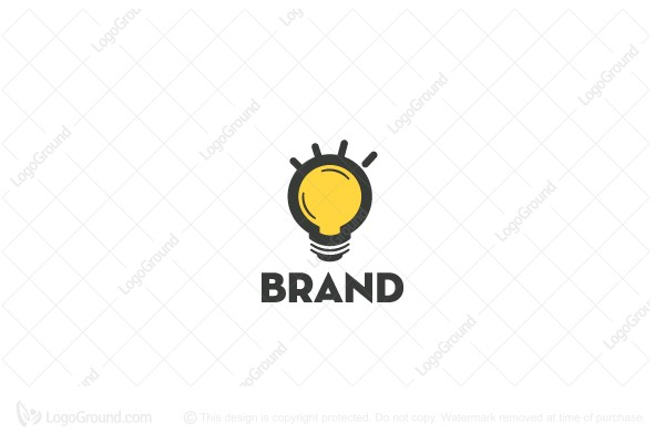 Logo for sale: Lightbulb Logo