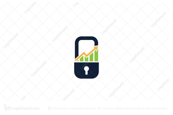 Logo for sale: Padlock Graph Logo