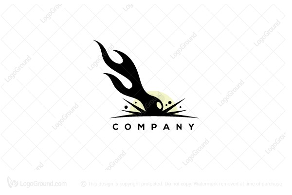 Logo for sale: Comet Impact Logo