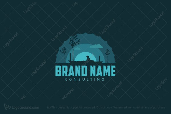 Logo for sale: Fisherman Badge Logo