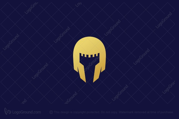 Logo for sale: Helmet + Guard Tower Logo