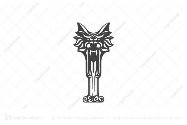Logo for sale: Hand Drawn Wolf Logo