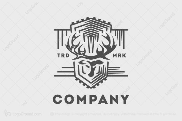 Deer Symbol Of Strength And Beauty Logo