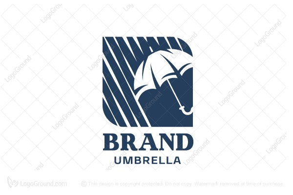 Logo for sale: Umbrella Shelter From Bad Weather Logo