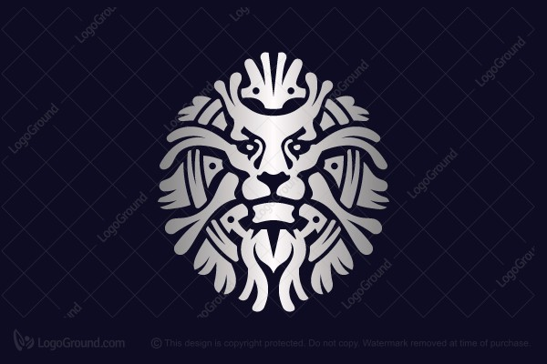 Logo for sale: The King Of Beasts Is A Beautiful Lion Logo