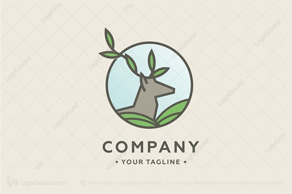 Logo for sale: Deer Logo