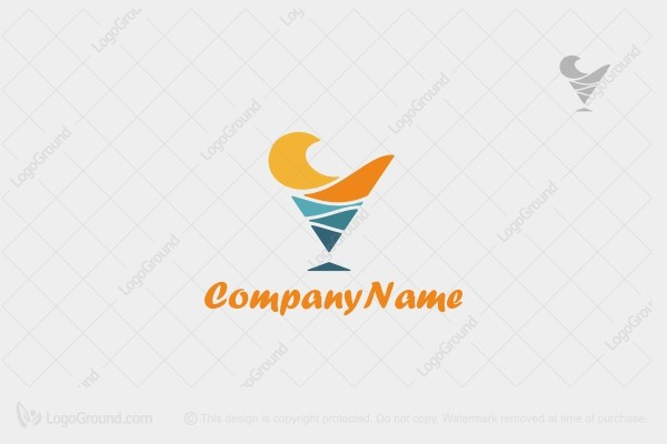Logo for sale: Ocean Cone Logo