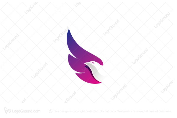 Logo for sale: Bird Negative Space Logo