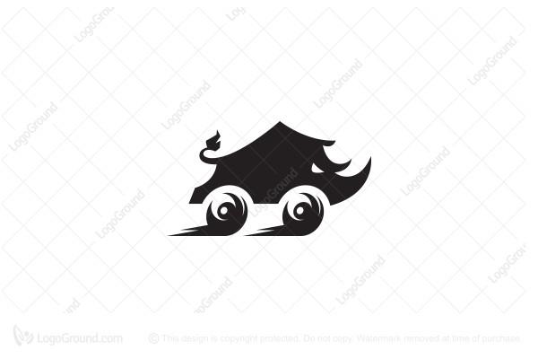Exclusive Logo 93959, Fast Rhino Logo