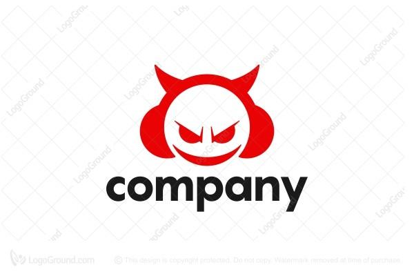 devil head with headphone logo exclusive logo 102477 devil head with headphone logo