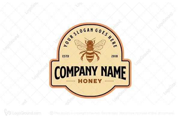 Vintage Logo Bee Keeping Company Logo