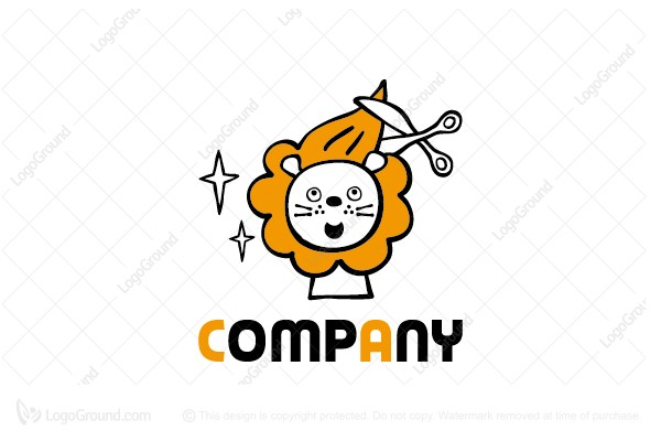 Lion Haircut Logo