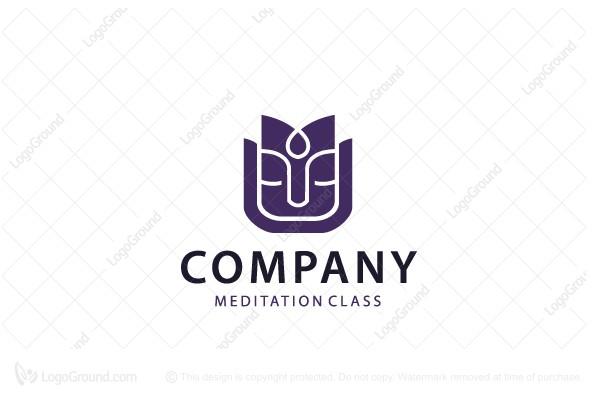 woman meditation logo