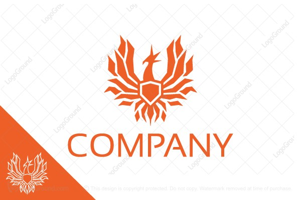 Logo for sale: Phoenix Shield Logo