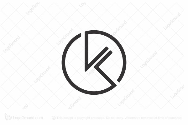 Abstract Letters Kl In Circle Logo