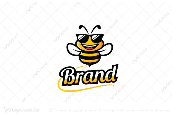 cute honey bee mascot logo rh logoground com honey bee logo design honey bee ligonier pa