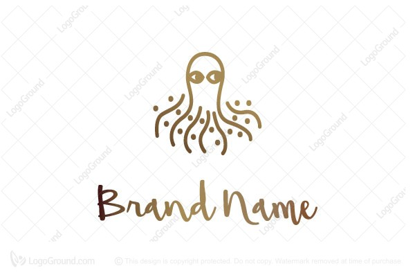 Logo for sale: Dot Octopus Logo