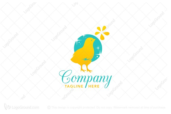 Logo for sale: Happy Sun Chick Logo