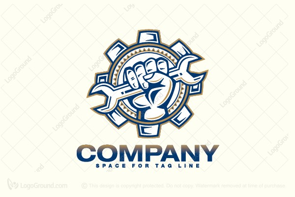 Logo for sale: Gear, Repair Logo