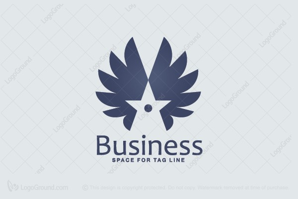 Logo for sale: Winged Star Logo
