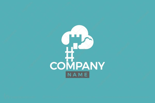 Logo for sale: Castle Cloud Logo