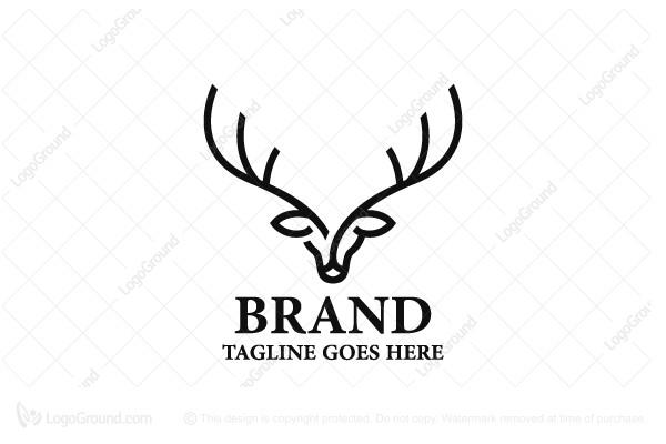 Deer Head Linear Logo