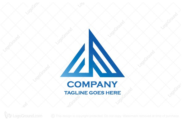 Logo for sale: Pyramid Letter A Logo