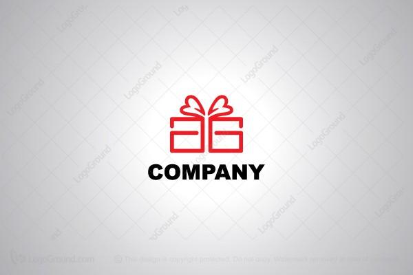 Letter A Gift Box Logo