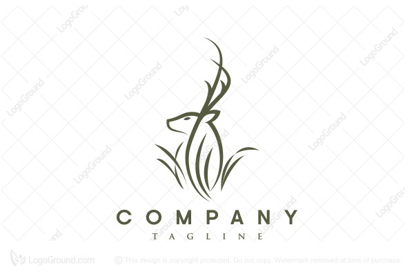 Logo for sale: Deer bush Logo